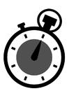Coloriage chronomètre