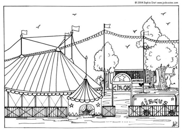 Coloriage Piste Cirque.Coloriage Cirque Img 6434 Images