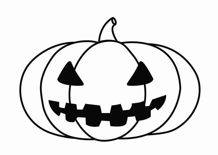Coloriage citrouille d 39 halloween img 26871 - Citrouille halloween dessin ...