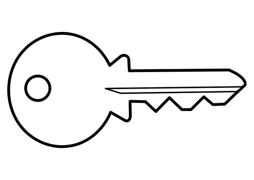 House Key Coloring Page