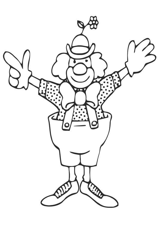 Coloriage clown img 20676 for Immagini di clown da colorare