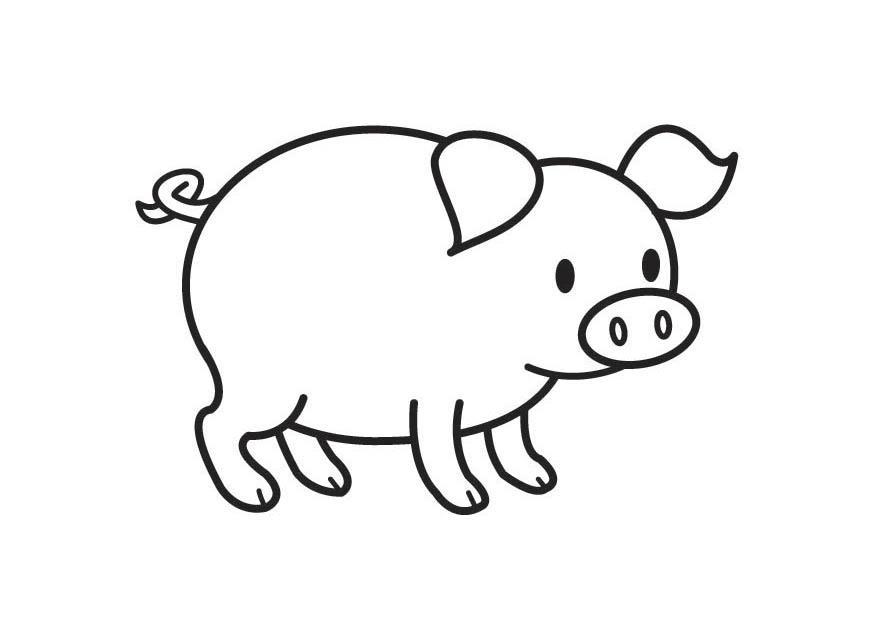 Coloriage cochon img 17789 - Dessin cochon ...