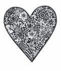 Coloriage coeur avec des fleurs