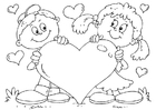 Coloriages coeur Saint-Valentin