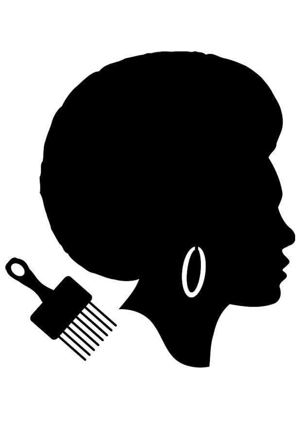 coloriage coiffure de femme africaine img 23040 images