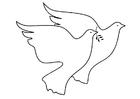 Coloriage colombes de la paix