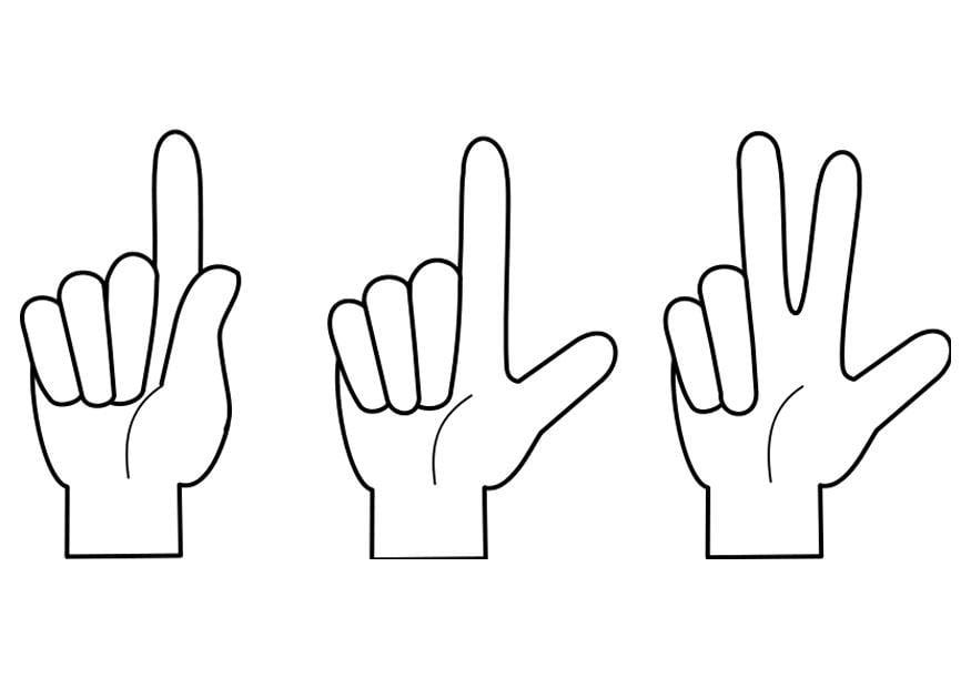 Coloriage compter img 21992 - Dessin de doigt ...