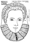 Coloriage Comtesse Anne Clifford