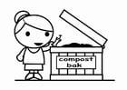 Coloriage convertir en compost