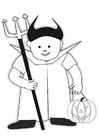 Coloriage costume d'Halloween