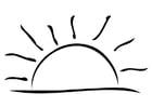 Coloriage coucher du soleil