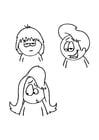 Coloriage coupes de cheveux