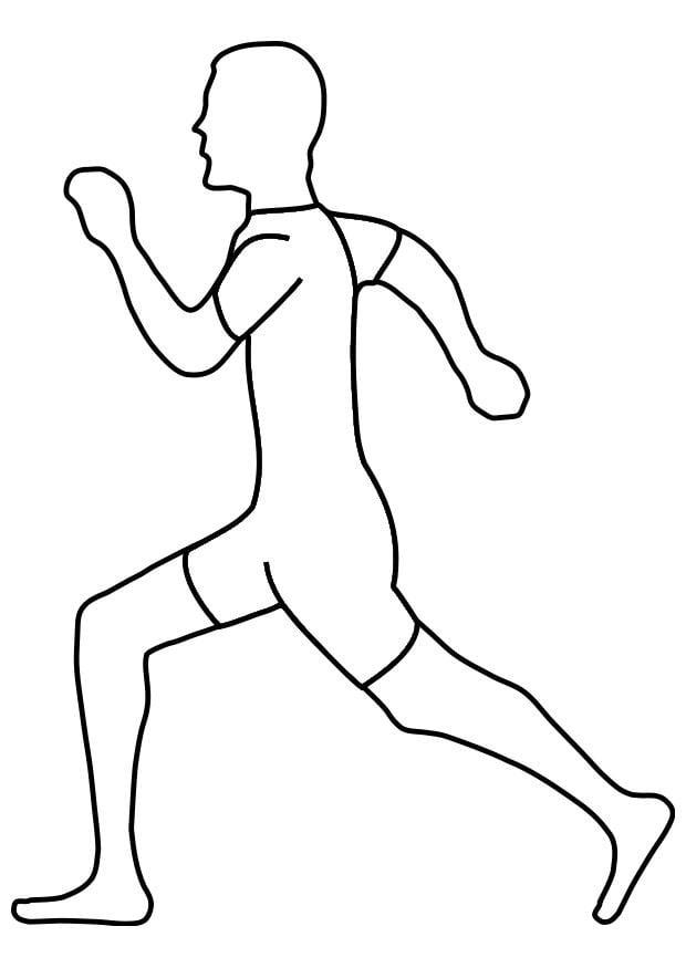Coloriage courir img 19329 - Dessin de course a pied ...