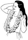 Coloriage couronne de fleurs