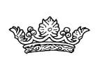 Coloriage couronne de la reine