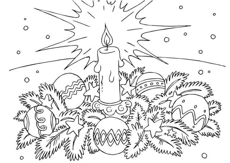 Coloriage Couronne De Noel.Coloriage Couronne De Noël Img 23377 Images