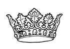 Coloriage couronne du roi