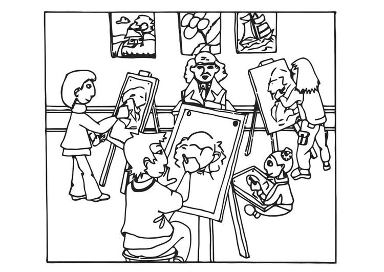 Coloriage cours de dessin img 12834 for Ecole de dessin bayonne