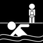 Coloriage cours de natation
