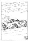 Coloriage course de voiture