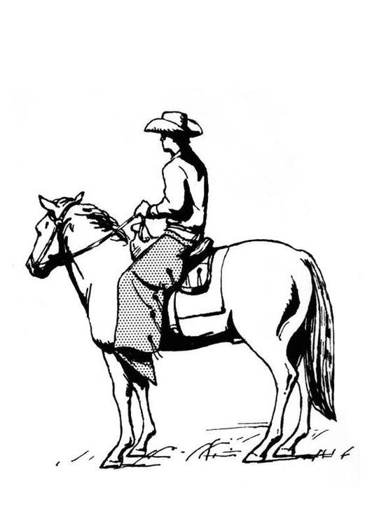 Cow-boy à cheval