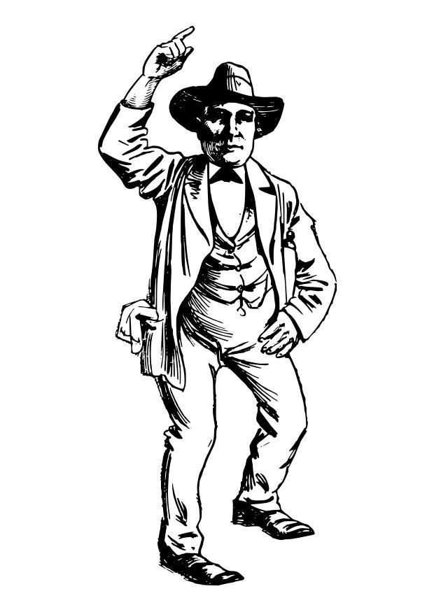 coloriage cowboy  img 28093