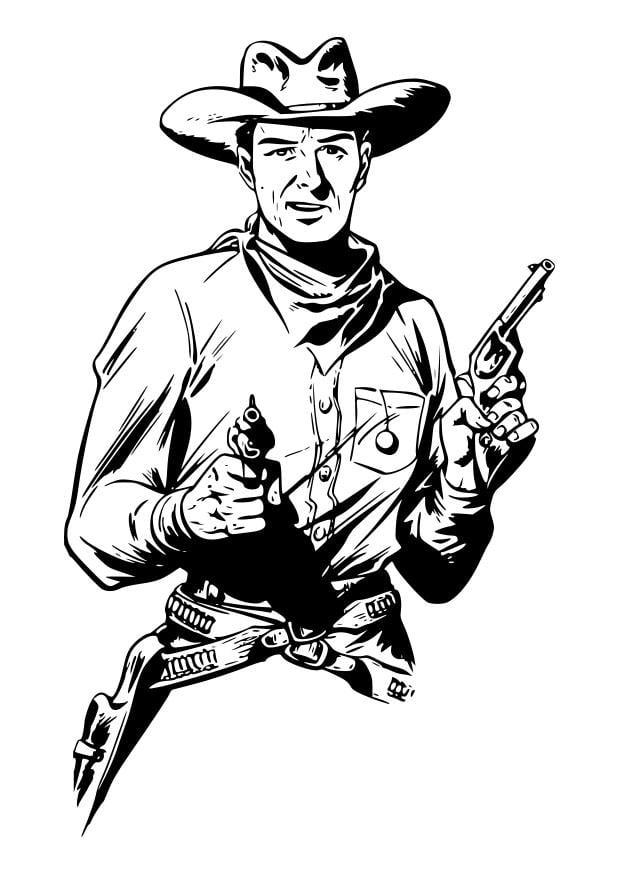 Coloriage cowboy img 29898 - Dessin de cowboy ...