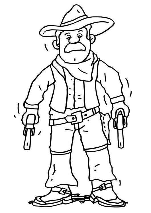 Coloriage cowboy img 6489 - Dessin de cowboy ...