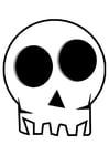 Coloriage crâne