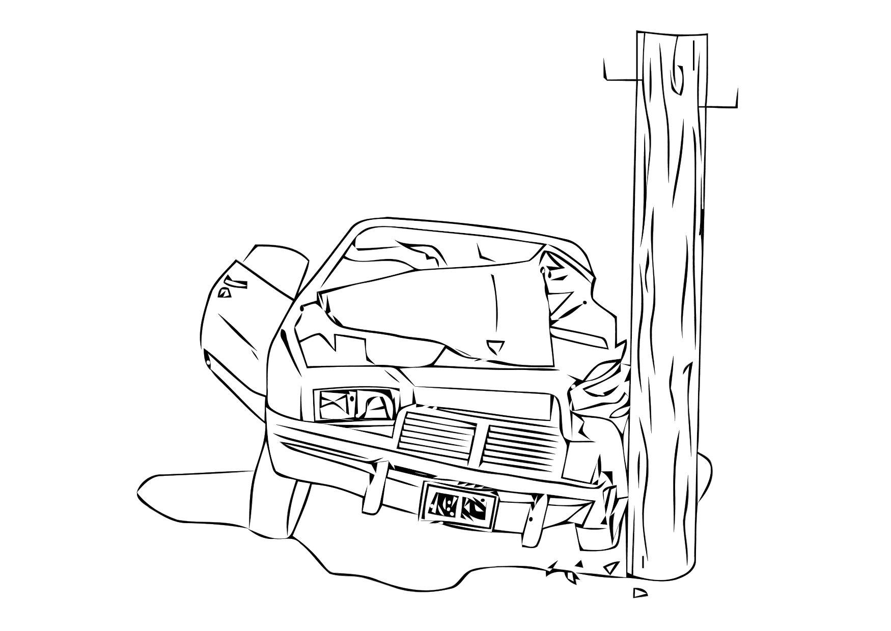 Coloriage crash accident img 11406 - Dessin d un car ...