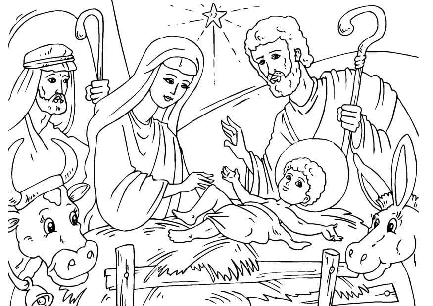 Coloriage Crèche De Noël Img 23056