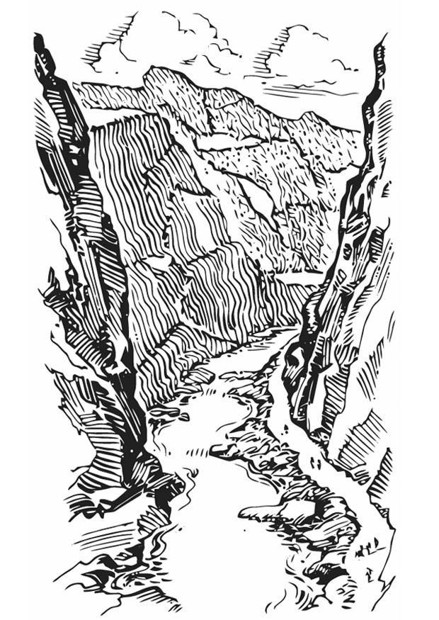 Coloriage Crevasse Canyon Img 13347 Images