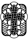 Coloriage Croix celtique