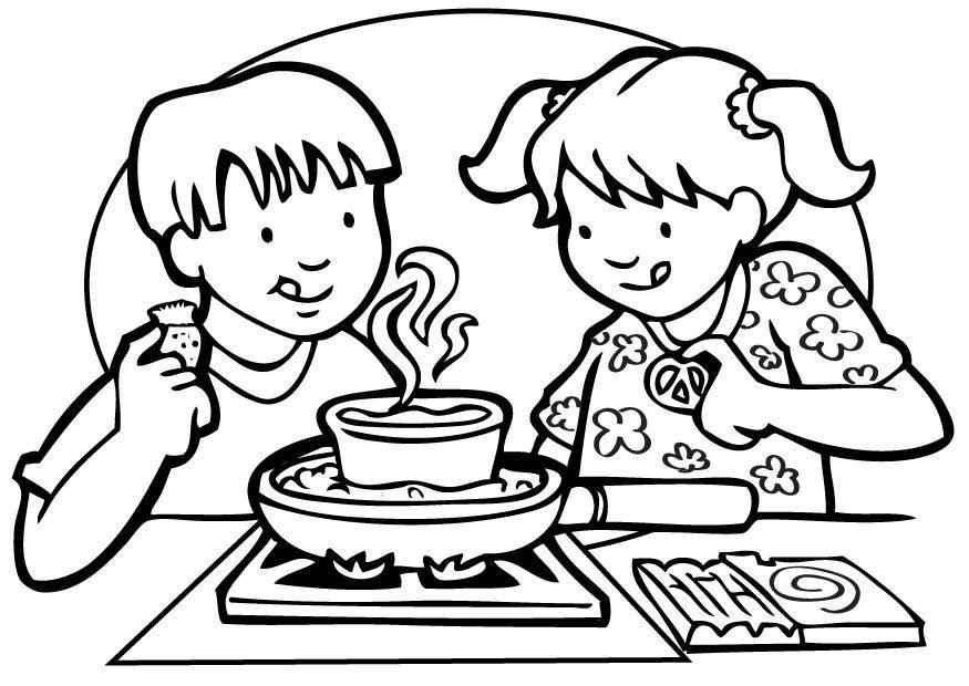 Dessin coloriage cuisinier - Coloriage cuisinier ...