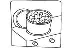Coloriage cuisiner - popcorn
