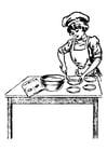 Coloriage cuisinière