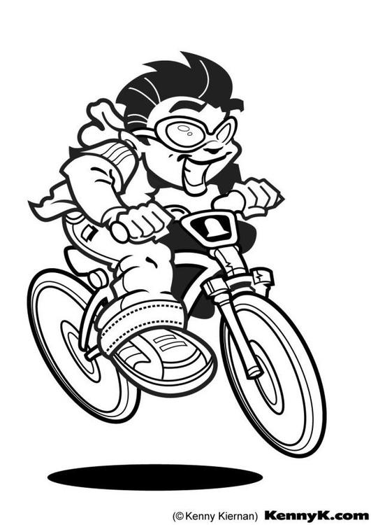 Coloriage cycliste img 7023 - Cycliste dessin ...
