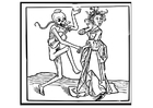 Coloriage dancer avec la mort