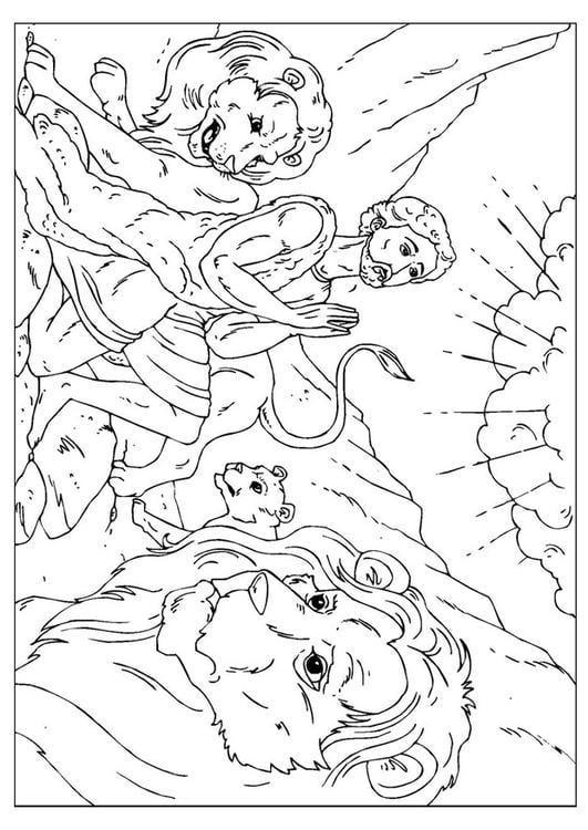 Coloriage Daniel Dans La Fosse Aux Lions Img 25953