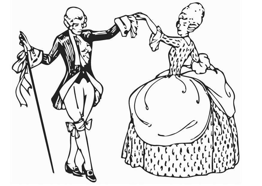 Coloriage Danse Menuet Coloriages Gratuits A Imprimer Dessin 12958