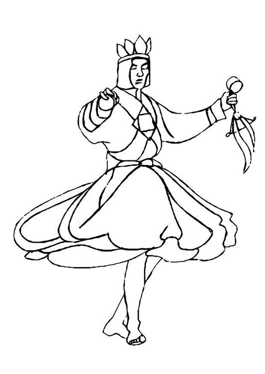 Coloriage De Danseuse De Hula.Coloriage Danseur Img 10986