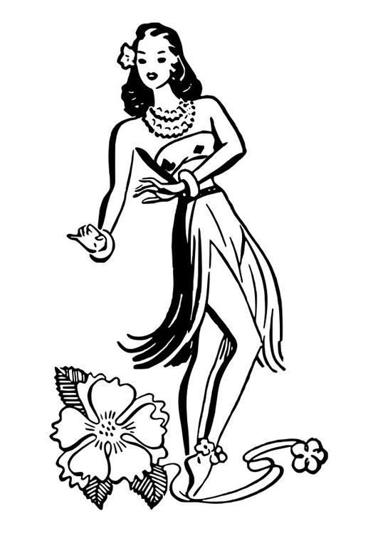 Coloriage De Danseuse De Hula.Coloriage Danseuse De Hula Img 27888