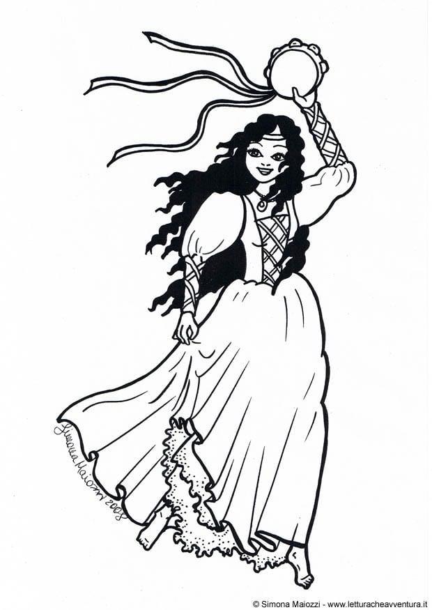 Coloriage danseuse img 12333 - Dessin d une danseuse ...