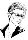 Coloriage David Bowie