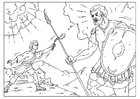 Coloriage David et Goliath