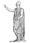 Coloriage déesse Athéné