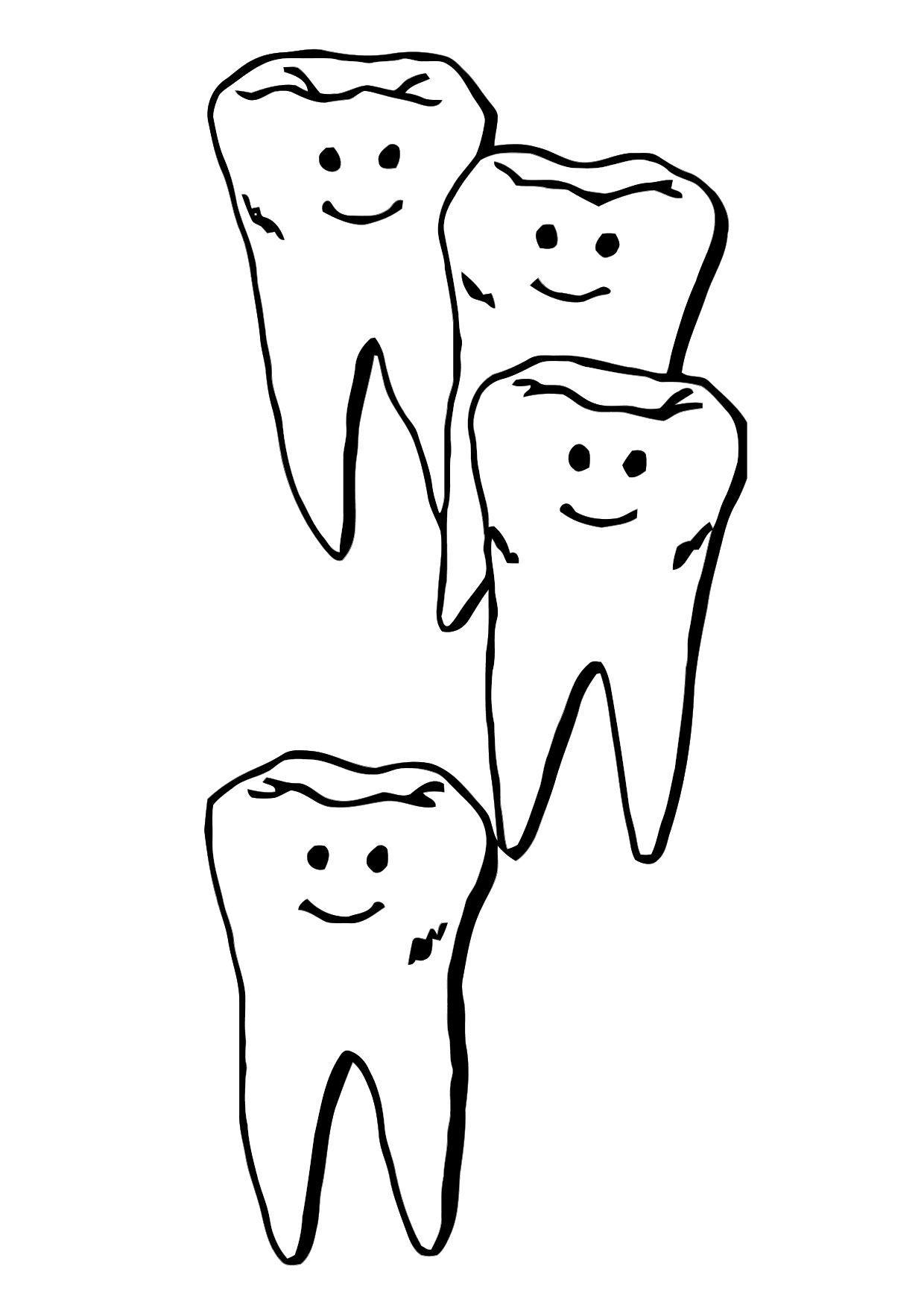 Coloriage Dents Coloriages Gratuits A Imprimer Dessin 11861