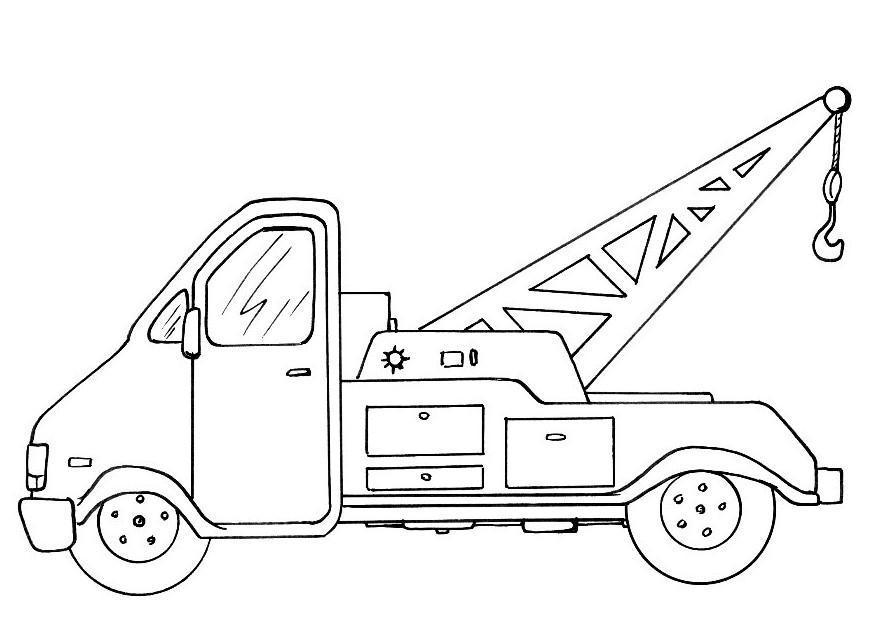 Coloriage d panneuse img 8154 for Disegni di addizione garage
