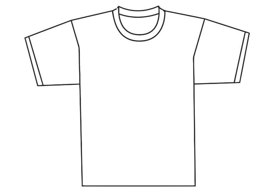 Coloriage devant de t-shirt - Coloriages Gratuits à ...