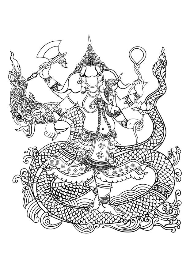 Coloriage Dieu Hindou Ganesh Img 29734 Images